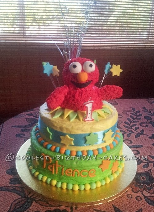 Cutest 1st Birthday Elmo Cake