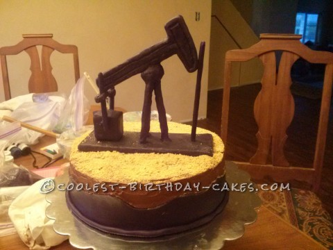 Cool Oil Pump Horsehead Cake
