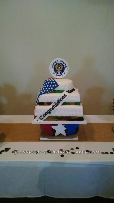 Patriotic Cake for Army Retiree