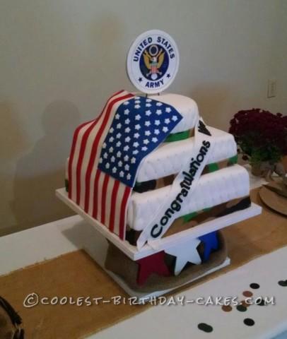 Patriotic Cake for Army Retiree