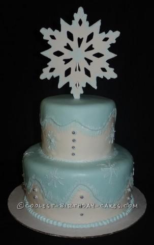 Coolest Frozen Theme Snowy Wonderland Cake