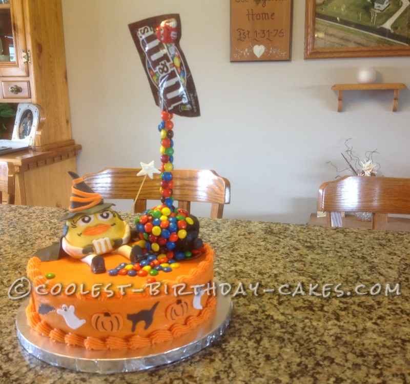 Coolest Witch's Spell Anti-Gravity Halloween Cake