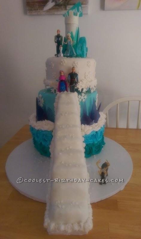 Fabulously Ornate Frozen Cake