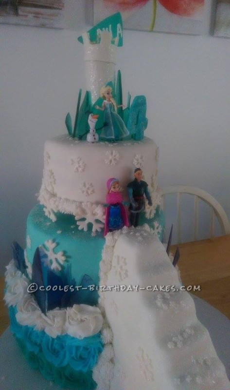 Fabulously Ornate Frozen Cake