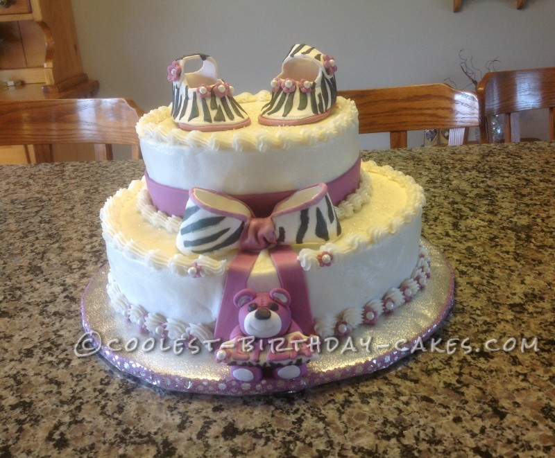 Cutest Baby Girl Baby Shower Cake