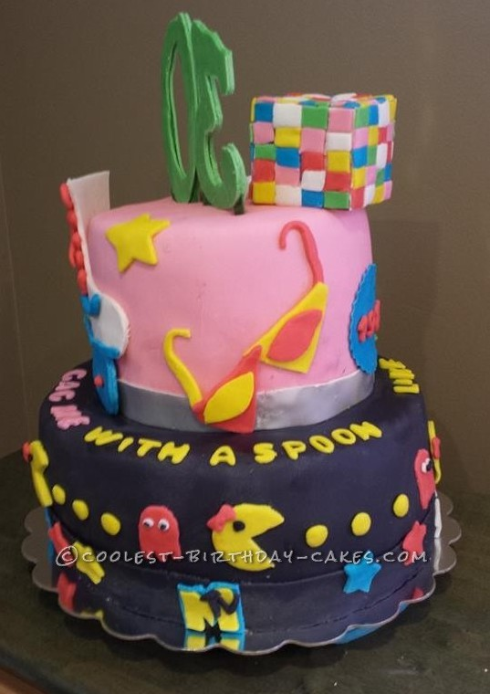 Marvelous Coolest Homemade 80S Theme Cakes Funny Birthday Cards Online Barepcheapnameinfo