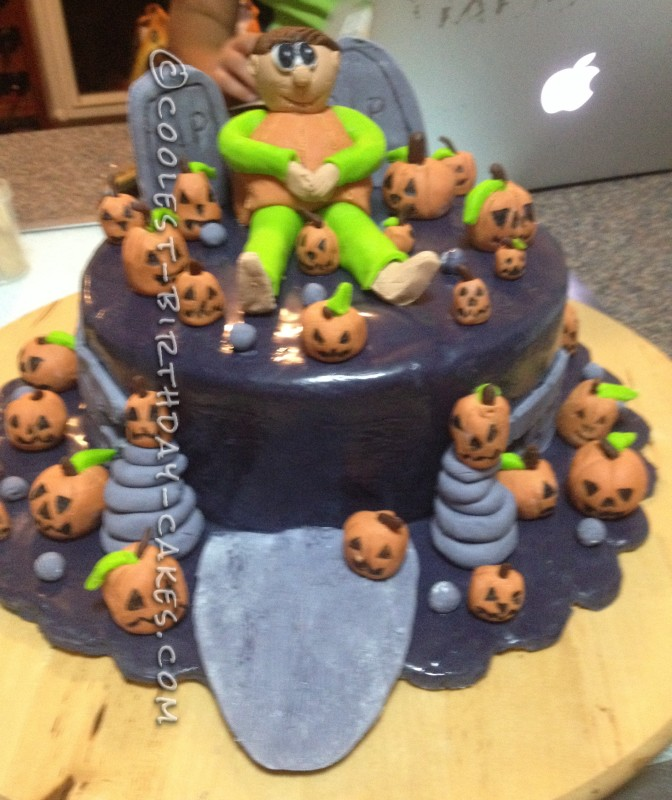 Last Minute Pumpkin Man Halloween Cake