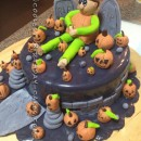Last Minute Pumpkin Man Halloween Cake