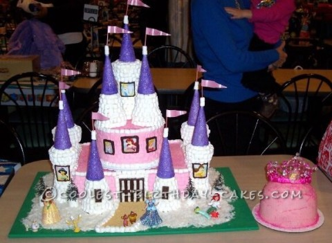 Sweetest Disney Princess Castle Cake