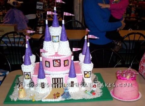 Sweetest Disney Princess Castle Cake