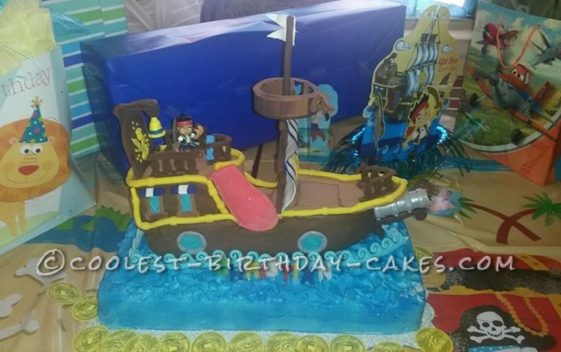 Coolest Bucky Pirate Ship Cake