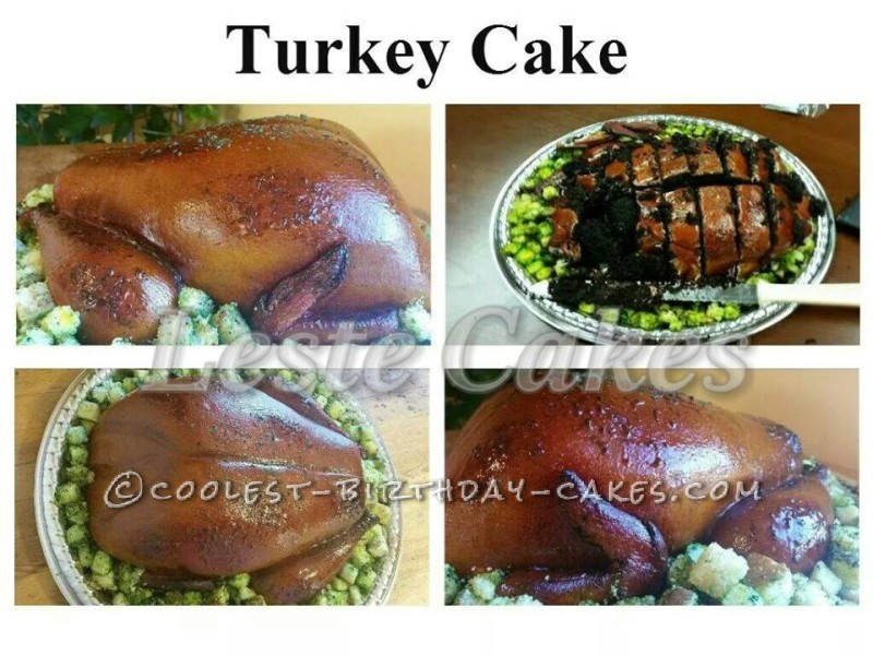 Coolest Thanksgiving Turkey Cake