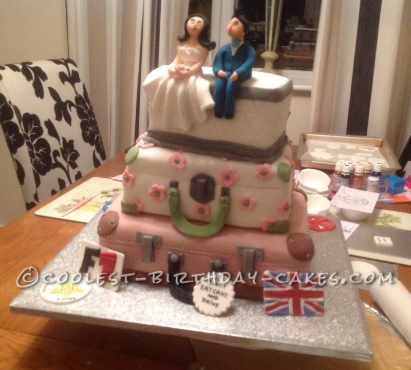 Coolest Travelers Luggage Wedding Cake