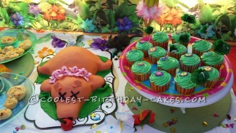 Zombie Luau Roast Pig Birthday Cake