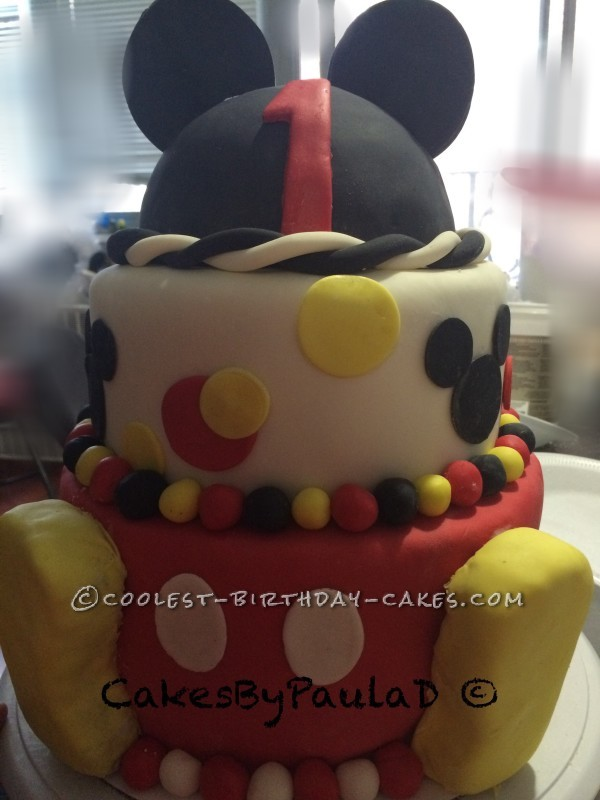 Coolest 3 Tier Mickey Cake