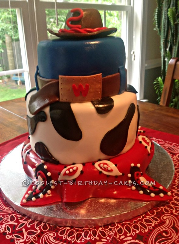 Terrific Coolest Western Cowboy Cake Funny Birthday Cards Online Inifofree Goldxyz