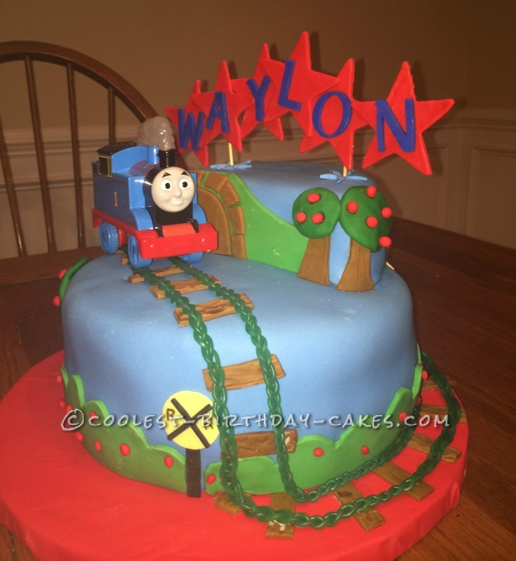 Miraculous 200 Coolest Homemade Thomas And Friends Birthday Cakes Funny Birthday Cards Online Overcheapnameinfo