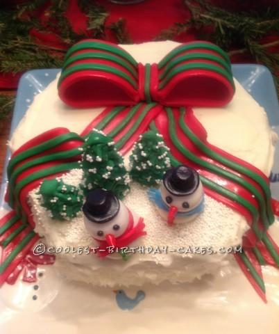 Fondant Christmas Ribbon