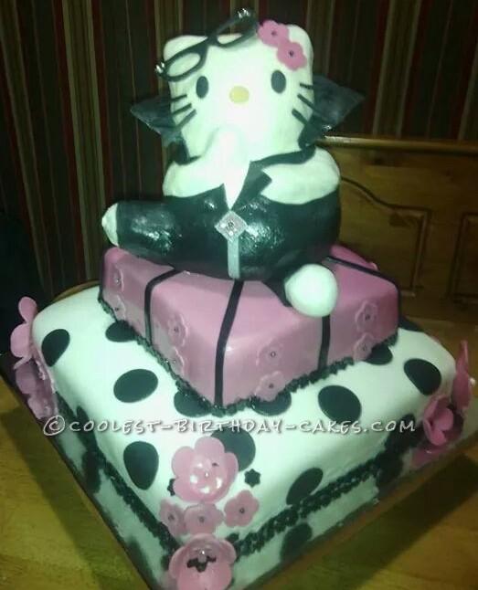 Hello Kitty Biker Cake