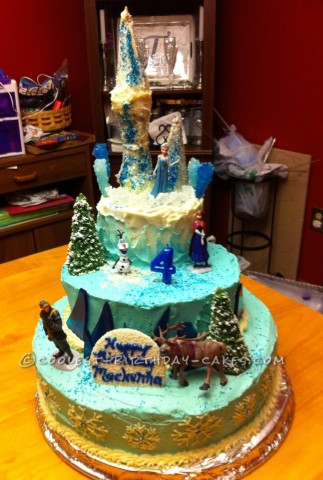 Frozen Frenzy Princess Elsa Cake