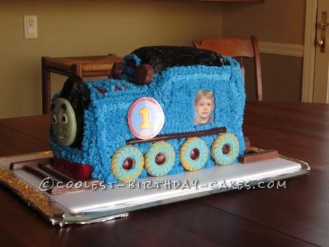 4th Birthday Thomas the Train Cake