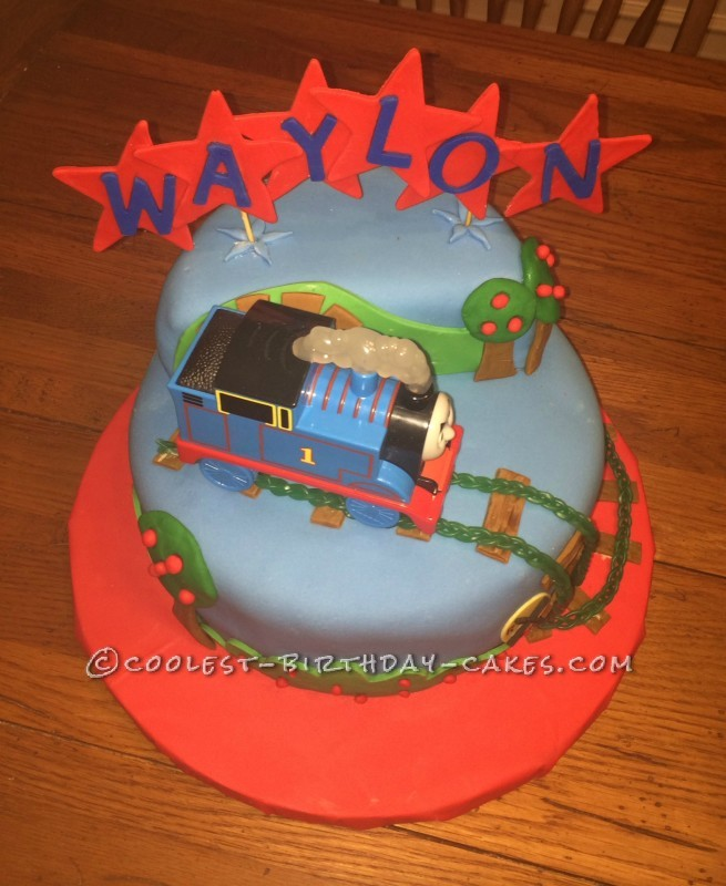Coolest Last Minute Thomas the Train Cake