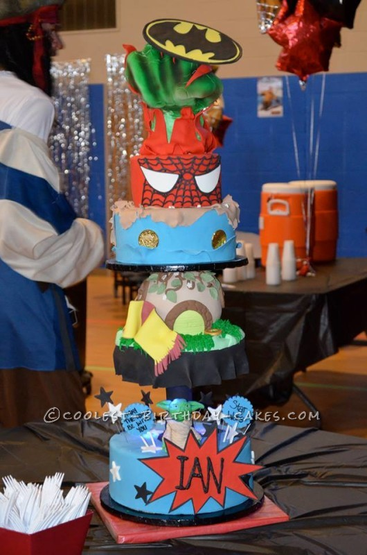 Ultimate HERO Cake For A Real Life Superhero