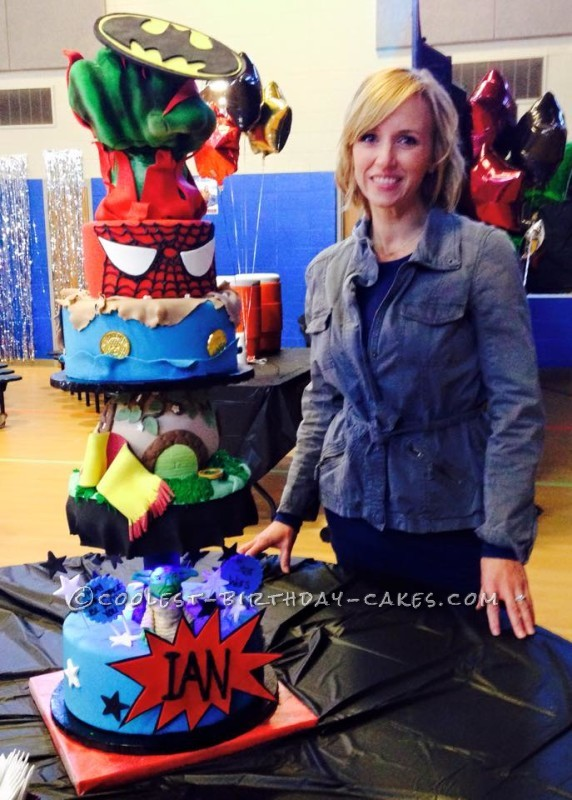 The Ultimate Superheroes Cake