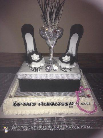 50 is Fabulous Cupcake Stiletto Cake!