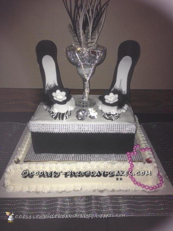 50 is Fabulous Cupcake Stiletto Cake!