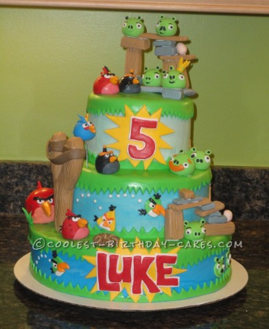 5th Birthday Angry Birds Cake