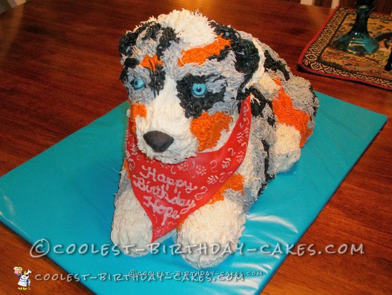 Awesome Australian Shepherd Puppy Cake