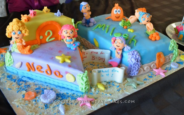 Stupendous Coolest Homemade Bubble Guppies Cakes Birthday Cards Printable Trancafe Filternl