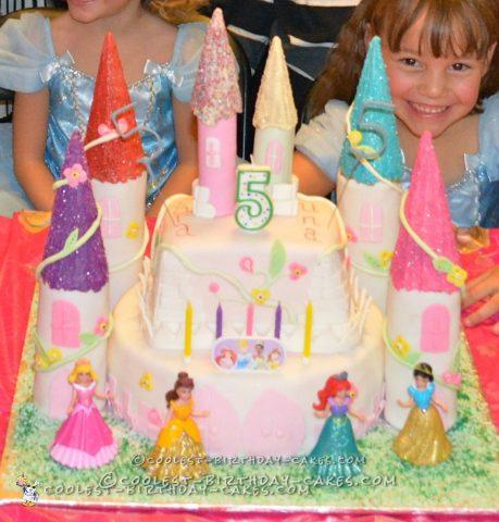 Sweet Castle Birthday Cake for Twins