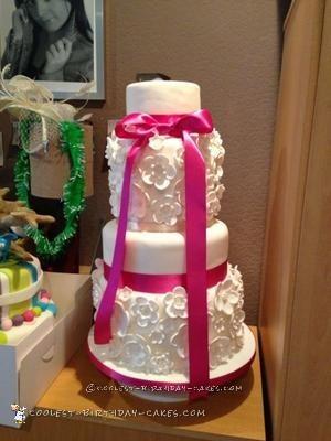 Coolest Flower Wedding Cake