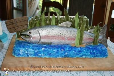 Groovy Coolest Homemade Fishing Cakes Personalised Birthday Cards Cominlily Jamesorg
