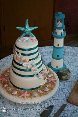 Coolest Seashells Wedding Cake