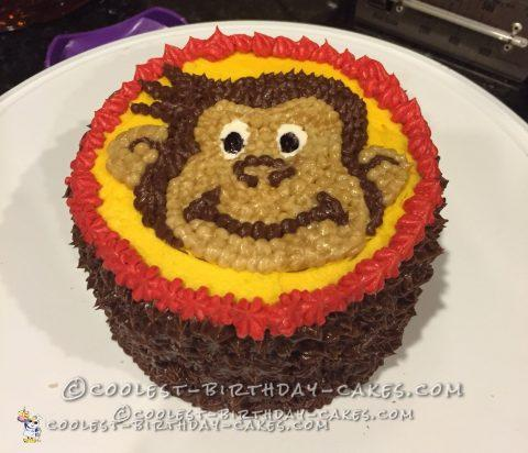 1st Birthday Curious George Cake and Smash Cake