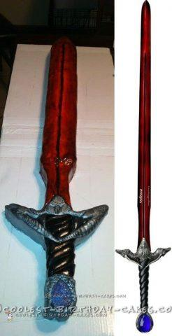 Cool 3D Sculpted Sword Cake