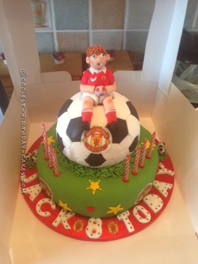 Super Coolest Manchester United Football Birthday Cake Birthday Cards Printable Nowaargucafe Filternl