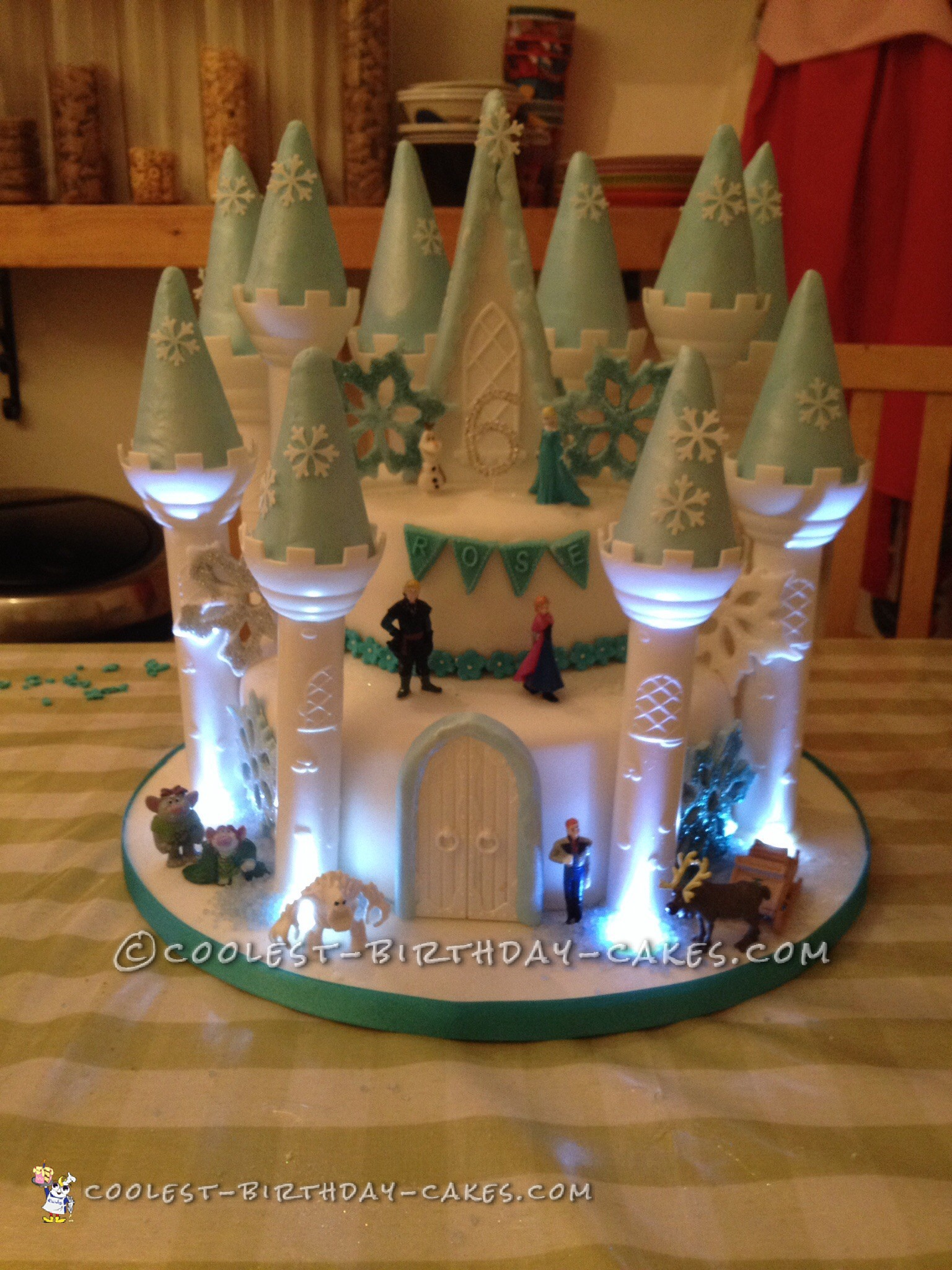 Frozen Light Up Castle Cake