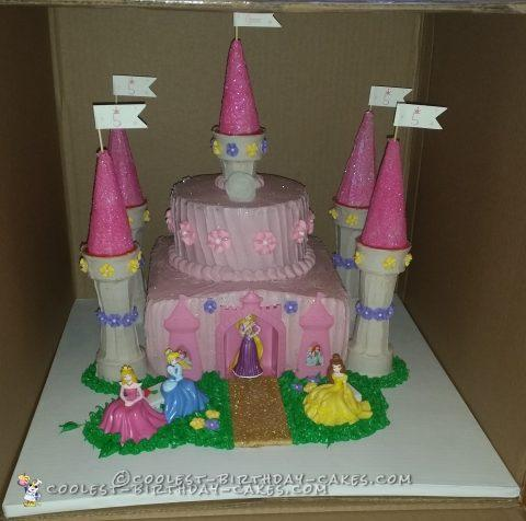 Magical 5th Birthday Princess Castle Cake