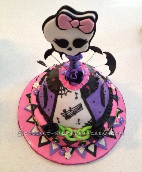 Pleasant Coolest Homemade Monster High Cakes Personalised Birthday Cards Sponlily Jamesorg