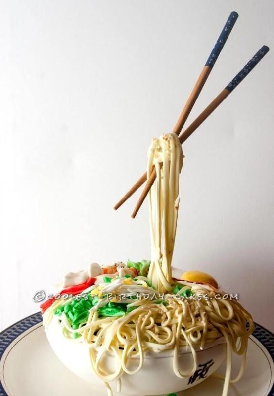 Thai Noodle Bowl Gravity Cake