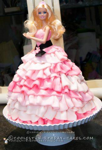 Fifty Shades of Pink Barbie Cake