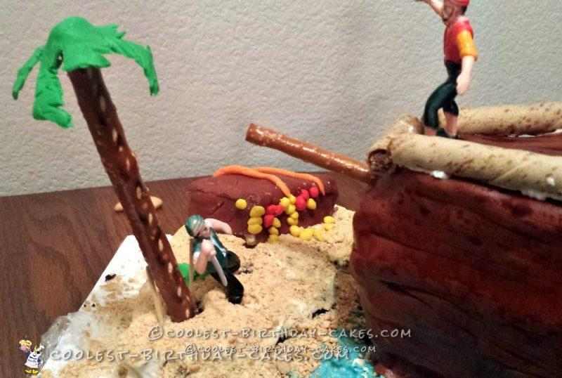 Coolest 4th Birthday Pirate Ship Cake
