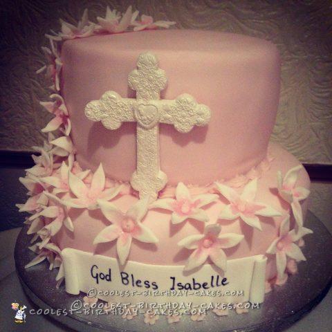 Cool Baptism Cake