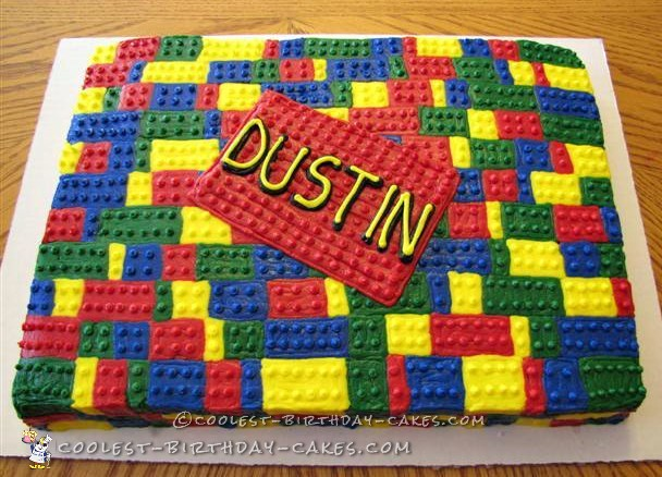 Coolest Buttercream Lego Cake
