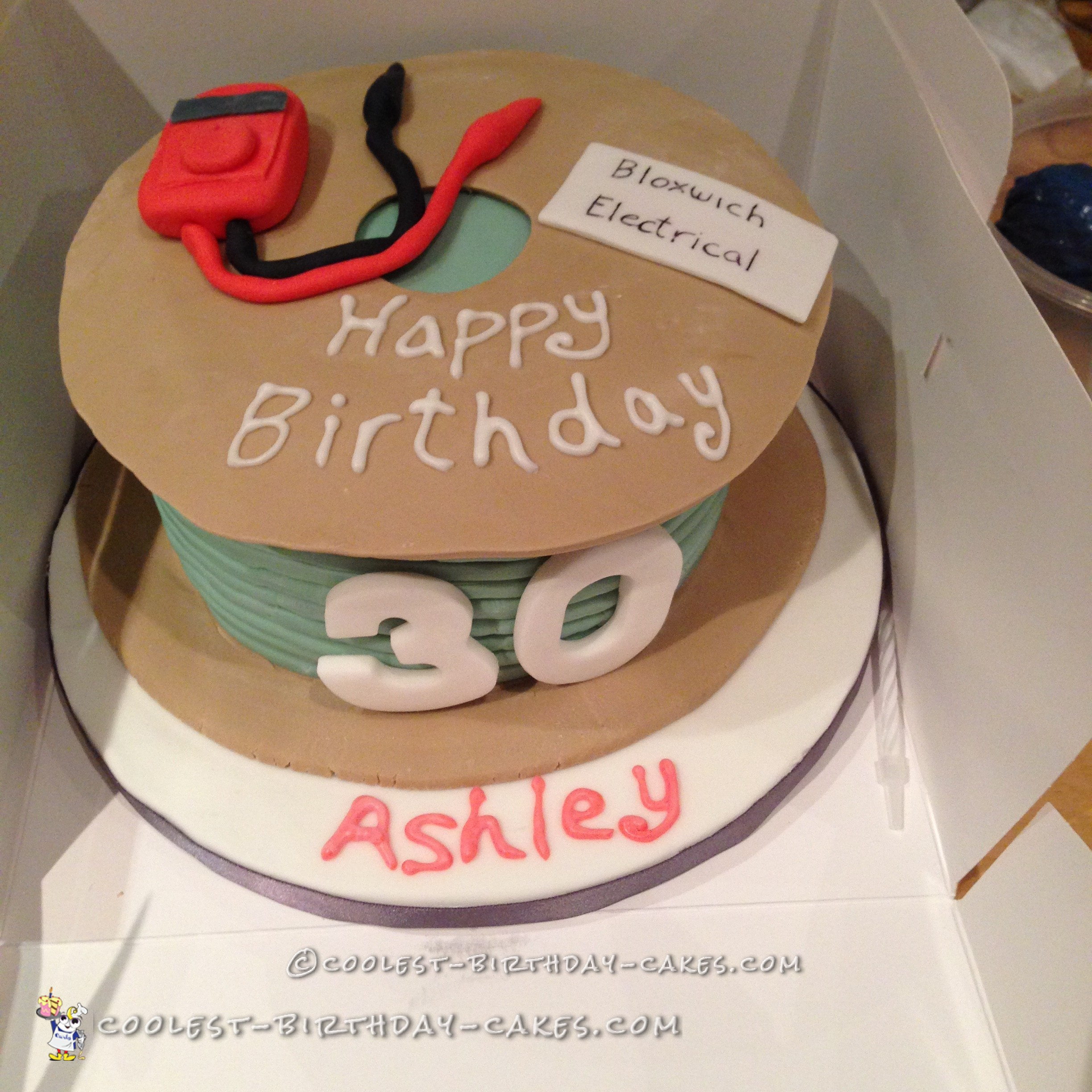 Cool Electrical Cable Cake