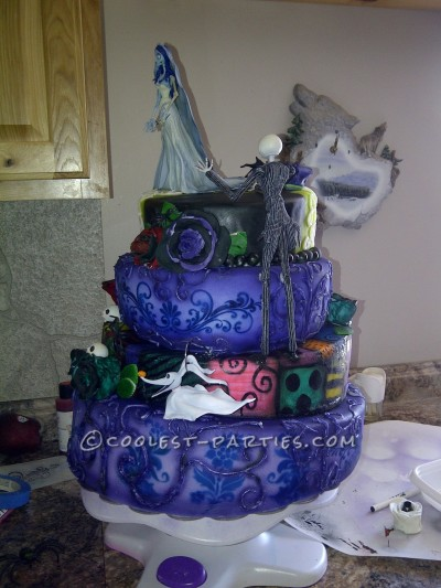 Sensational Coolest Homemade Nightmare Before Christmas Cakes Personalised Birthday Cards Paralily Jamesorg